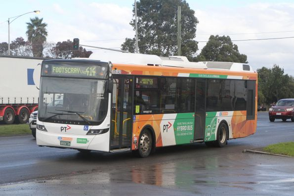 CDC Melbourne hybrid bus #266 BS04US on route 414 at Geelong and Millers Road