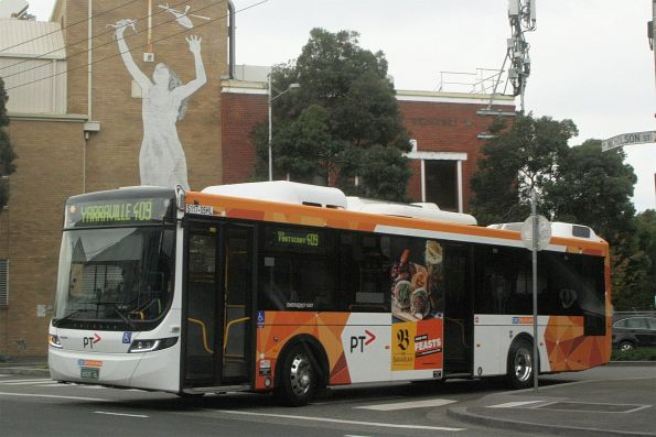CDC Melbourne hybrid bus #117 BS05HL on route 409 at Nicholson Street, Footscray