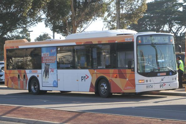 CDC Melbourne bus W128 9074AO on route 496 at Aircraft station