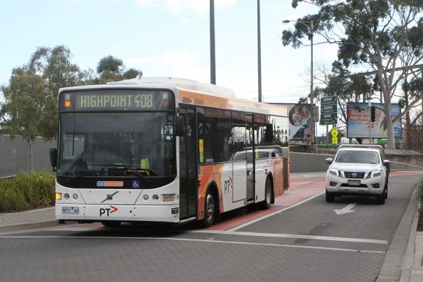 CDC Melbourne bus #91 9071AO on route 408 arrives at Sunshine station