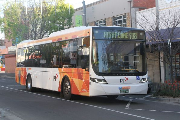CDC Melbourne bus #99 BS00RP on route 408 along Hampshire Road, Sunshine