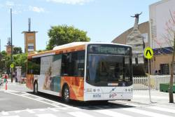 CDC Melbourne bus #88 8014AO on route 408 heads along a redeveloped Hampshire Road in Sunshine