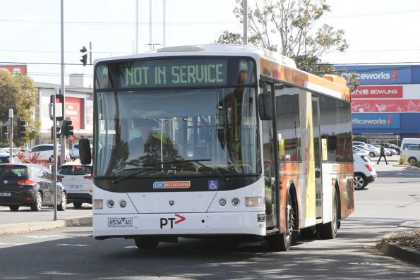 CDC Melbourne bus #82 6534AO arrives at Highpoint out of service