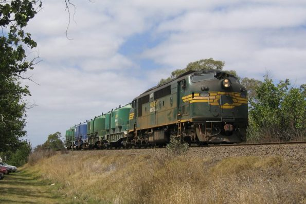 A79 with the up Waurn Ponds cement train outside South Geelong