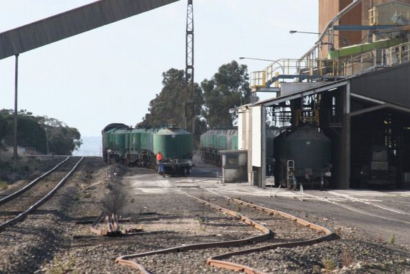 Shunter at the end of the train, almost ready to depart Waurn Ponds