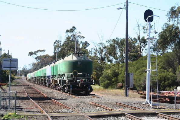 Down cement train departs South Geelong bound for Waurn Ponds
