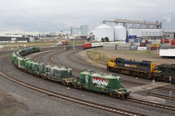Ten VPAX wagons at Appleton Dock - dropped off by the up Mildura?