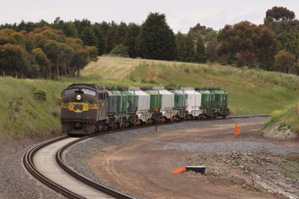 Approaching Moorabool station, passing the ARTC track duplication works