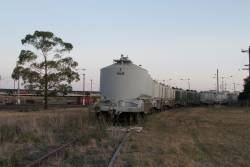 Cement hoppers stabled on the former Fyansford line stub at North Geelong Yard