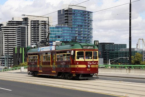 SW6.888 on the City Circle on La Trobe Street