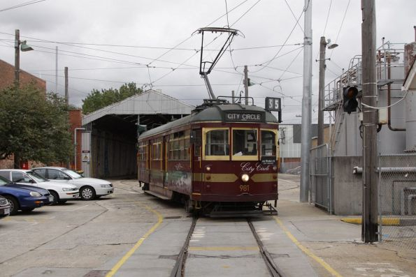 W6.981 sits in the depot fan at North Fitzroy depot