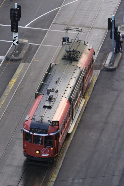 Roof view of City Circle tram SW6.925