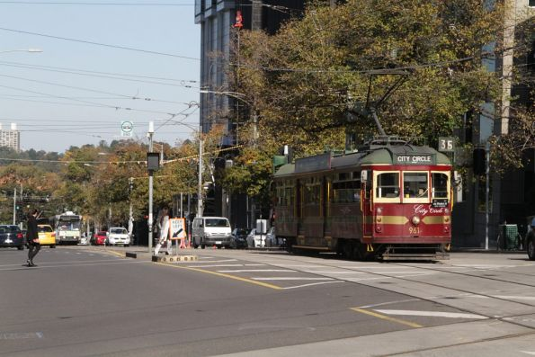 SW6.961 northbound at Spring and Collins Street