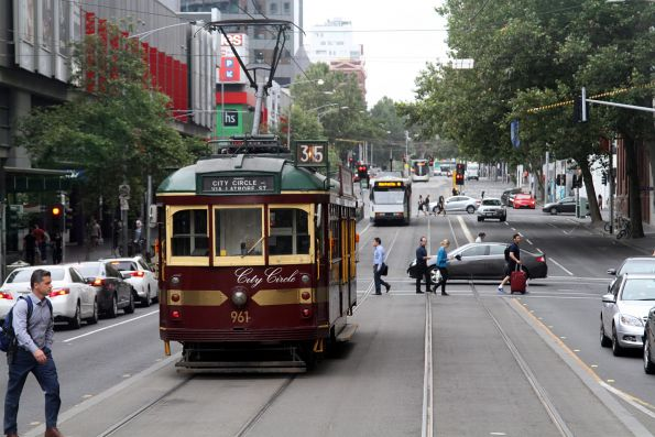 SW6.961 heads north at Spencer and Bourke Street