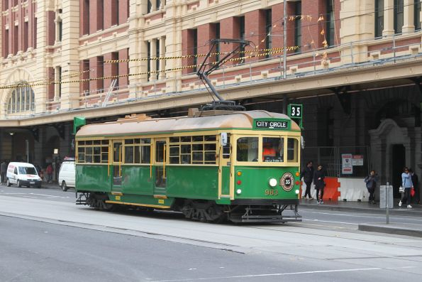 W8.983 on the City Circle at Flinders and Elizabeth Street