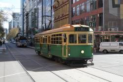W8.959 heads east at Flinders and Elizabeth Street