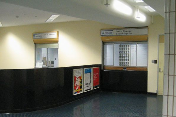 Stationmaster's office at Melbourne Central station, located on the mezzanine floor at the La Trobe Street exit