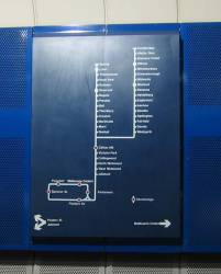 Clifton Hill loop map, at Parliament Station
