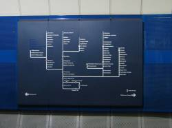 Northern loop map, at Parliament Station
