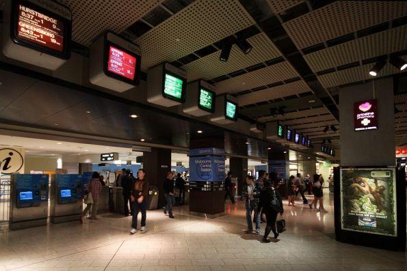 Swanston Street entrance to Melbourne Central station