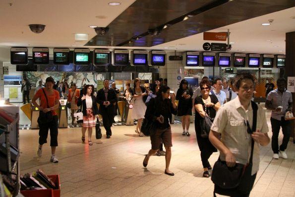 Ticket barriers at the Elizabeth Street end of Melbourne Central