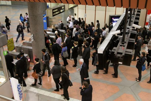 Smaller queues at Flagstaff station during morning peak