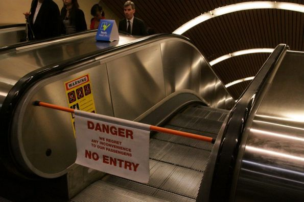 An out of service escalator is just a set of stairs