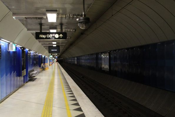 Due to trackwork the lights are off at Parliament Station platform 3
