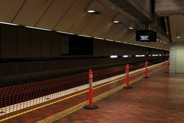 Melbourne Central platform 4 closed to passengers, due to trackworks in the tunnel