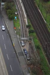 Looking down on the Clifton Hill Loop portal at Jolimont
