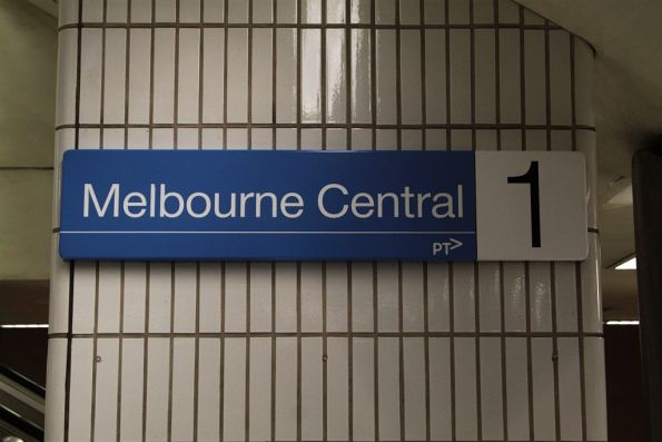 New PTV signage at Melbourne Central