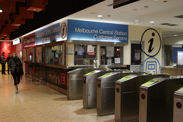Booking office at Melbourne Central, now reopened