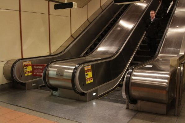 Defective escalator taken out of service at the west end of Flagstaff station