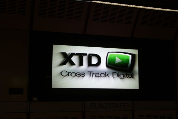 XTD / 'Cross Track Digital' is the supplier of the new SHOUTING signs at Flagstaff station