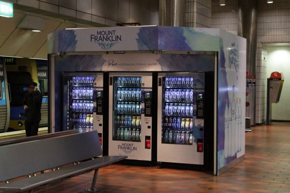 Kiosk at Melbourne Central platform 3 and 4 has now been converted to a row of vending machines