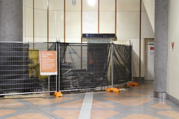 Lift linking Flagstaff station to the street closed for total replacement