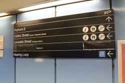 'Lift' signage blacked out at Parliament station during upgrade works