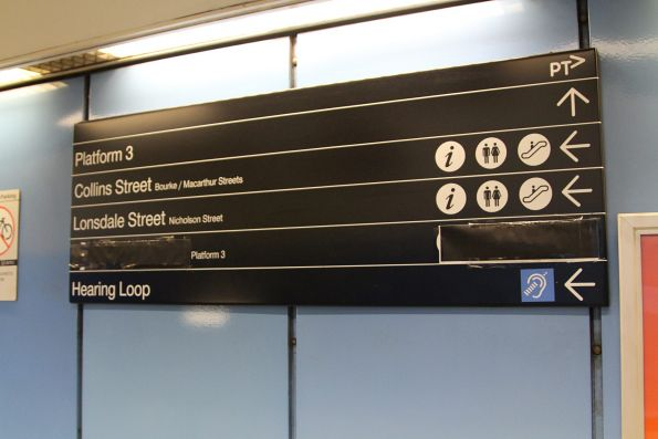 'Lift' signage blacked at at Parliament station during upgrade works