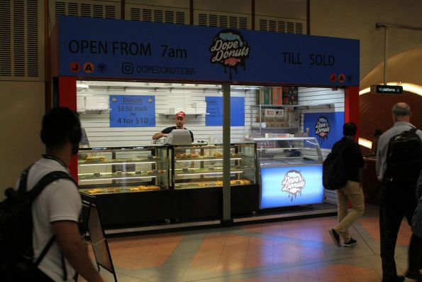Donut shop now open on the concourse at Flagstaff station