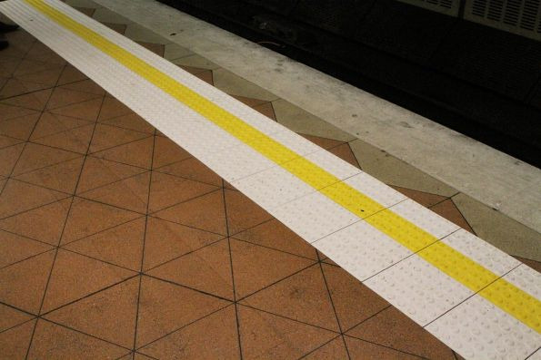 New tactile paving added to the Northern Loop platform at Flagstaff station