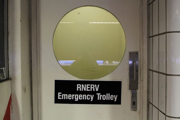 'Rail Network Emergency Response Vehicle' (RNERV) in the platform office at Melbourne Central