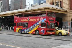 City Sightseeing Melbourne bus 9351AO at Swanston and Flinders Street