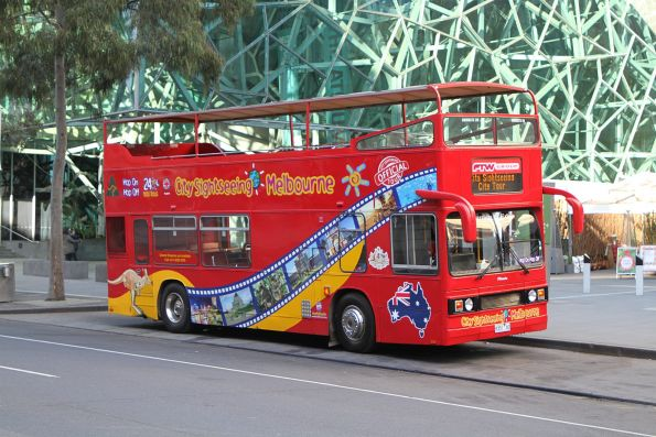 City Sightseeing Melbourne bus 9351AO outside Federation Square