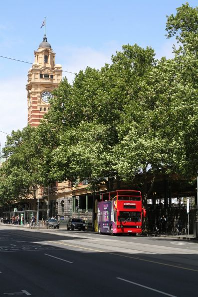 City Sightseeing bus 9350AO outside Flinders Street Station