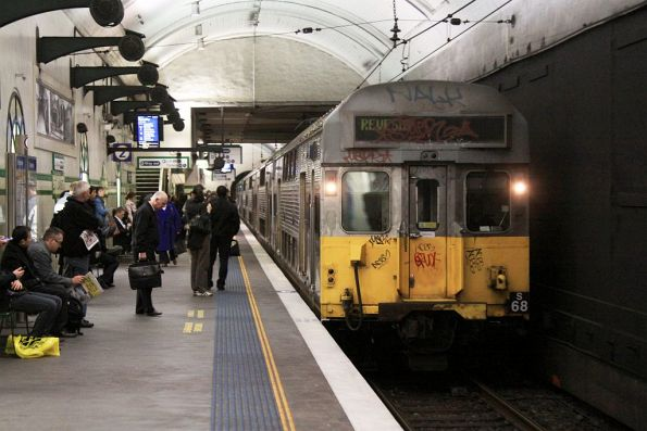 Revesby service arrives into St James with set S68