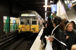 S117 arrives into Town Hall with a Blacktown service