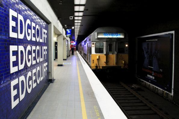 Set S13 arrives into Edgecliff station