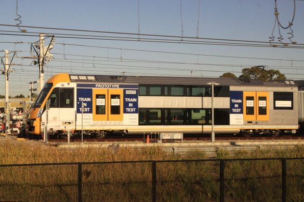 Four-car Waratah PPTV (Pre Production Trial Vehicle) stabled at the Auburn Maintenance Facility
