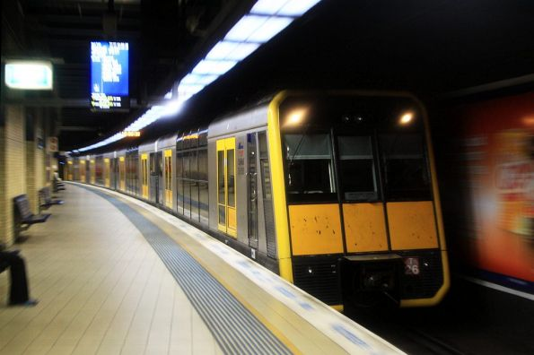 Tangara set T26 arrives into Redfern with a Bondi Junction service