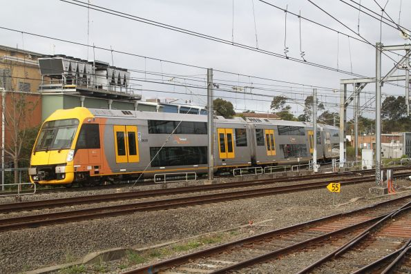 A18 traverses the goods lines along the western leg of the Homebush triangle